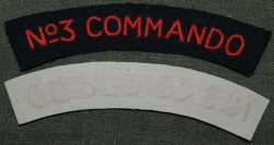 SHOULDER TITLE No 3 COMMANDO OBLOUČEK REPRO BAVLNA